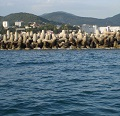 Major repairs of the southwestern breakwater at Tuapse port